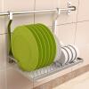 Настенные кухонных шкафы Chaomu складных сушилки Спускного хранение стойки хранения полки стойка стенка 50CM стержень ZM3388H