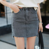 VINEMO VORNEOCO корейская версия высокой талии слот-пакет юбка джинсовая юбка юбка юбка R1540 серый XL юбка v147687s 1153c57