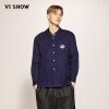 Wei Xiu (viishow) рубашка с длинными рукавами рубашка мужская повседневная мужская длинная рубашка вышивка корейская версия CC1115171 синий L
