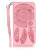 Светло-розовый Windbell Кожа PU откидная крышка бумажника карты держатель чехол для Iphone 7 волк дизайн кожа pu откидная крышка бумажника карты держатель чехол для iphone 7g