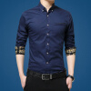 lucassa мужские рубашки воротник рубашки мужские простой случайный с длинными рукавами рубашки мужские рубашки 1730 светло-синий L lucassa мужские рубашки воротник рубашки