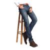 lucassa джинсы мужские случайные джинсы повседневный джинсы мужские простые джинсовые брюки 087LL темно-синий 31