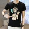 футболки lucassa короткими рукавами футболки мужские шею футболки мультфильма печатных короткими рукавами футболки мужчин 98077 черный XXL