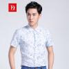 Бао Ло Фади BAOLUOFADI с короткими рукавами мужские рубашки летом 2017 года мужская рубашка дела синий 50 206 202 213 рубашка мужская holy shi bao 11010006 2014