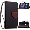 Черный Дизайн Кожа PU откидная крышка бумажника карты держатель чехол для Nokia Lumia 925