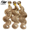 Nami Hair Piano Color 3 Bundles #8/613 Brazilian Body Wave Human Hair Extensions 14-26 Hair Weave Free Shipping human hair 2 selling100% 8 30 613 bw613