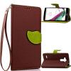 Коричневый Дизайн Кожа PU откидная крышка бумажника карты держатель чехол для LG G4 Beat коричневый дизайн кожа pu откидная крышка бумажника карты держатель чехол для lg l90