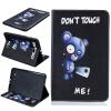 Синий медведь Стиль тиснение Классический откидная крышка с функцией подставки и слот для кредитных карт для SAMSUNG GALAXY Tab A 9.7 T560 классическая флип обложка с тиснением в стиле tower tower с функцией подставки и слотом для кредитных карт для ipad air 2 6