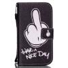 Белый Finger Дизайн PU кожаный бумажник держателя карты откидная крышка чехол для IPHONE 6PLUS чехол для iphone 6plus белый горох на сиреневом арт 6plus 022 chocopony