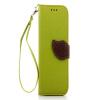 Зеленый дизайн Кожа PU откидная крышка бумажника карты держатель чехол для HTC One M8 розовый дизайн кожа pu откидная крышка бумажника карты держатель чехол для htc one a9