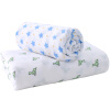 Подобно ребенку (elepbaby) детское полотенце мыло хлопковое полотно детское полотенце неонное детское одеяло 115X115CM Комбинация двух elepbaby детское одеяло детское купальное полотенце 115x120cm