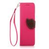 Розовый Дизайн Кожа PU откидная крышка бумажника карты держатель чехол для HTC M7/One розовый дизайн кожа pu откидная крышка бумажника карты держатель чехол для htc one a9