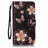 Золотой цветок бабочка Дизайн Кожа PU откидная крышка карточки бумажника держатель случая для HUAWEI Y6 II смартфон huawei y6 pro золотой