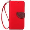 Красный Дизайн Кожа PU откидная крышка бумажника карты держатель чехол для Apple iPhone 4G/4S