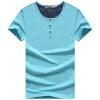 PLAYBOY Мужская модная и повседневная футболка с коротким рукавом и клуглым воротником, чистый цвет