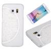 Цветок полукруга Pattern Мягкая тонкая резиновая оболочка из силиконового геля TPU для SAMSUNG Galaxy S6 edge