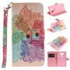 Красочные цветы Дизайн PU кожа флип кошелек карты держатель чехол для LG G5 фиолетовый орхидеи дизайн pu кожа флип кошелек карты держатель чехол для lg leon