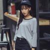 LAXJOY женская одежда корейской версии круглый воротник широкий фасон рукав три четверти