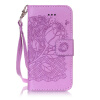 Пурпурная роза Дизайн Кожа PU откидная крышка бумажника карты держатель чехол для IPHONE 7PLUS цветочный дизайн кожа pu откидная крышка бумажника карты держатель чехол для iphone 7plus