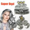 Hot Sale!  Beautiful Gray/Grey Weave Bundles 3pcs Body Wave Brazilian Human Virgin Hair Remy Hair Weft Extension 7A Grade 300g конструкторы tototoys крутые виражи rollipop 10 деталей 5 шаров
