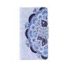 Blue Flower Design Кожа PU откидной крышки Кошелек Карты Держатель чехол для LG LS770 blue feather design кожа pu откидной крышки кошелек карты держатель чехол для samsung a310 a32016
