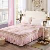 Yalu свободный хлопок кровать юбка постельные принадлежности домашний текстиль хлопок печать покрывала кровать юбка 120 * 200 см элегантный аромат