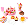 Мама и папа (babamama) Детский день рождения торт моделирование игры дома кухня игрушки 1-3 лет детские образовательные ребенка Подарочный набор B1005 Pink