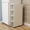Шуай шкаф кухня холодильник полки пойманы Зазор шкафчики шкив стеллаж для хранения снэк четыре белых SL1696W