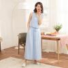 Йемен (INMAN) платье темперамент юбка платье лето Xiaoxing новый самосовершенствование без рукавов жилет юбка лето пляж юбка порошок синий S 8521030414 юбка s cool юбка