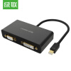 (UGREEN) Mini DP к HDMI / VGA / DVI тройной конвертер интерфейс мини Displayport vention mini dp к vga hdmi dvi конвертер apple интерфейс mini displayport