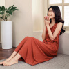Йемен (INMAN) Женская юбка платья Xia Xiaoxin Slim без рукавов танк платье летняя пляжная юбка оранжевый S8521030414 набор для вышивания бисером бисеринка солнышко 9 см х 11 см