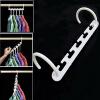 8шт белый Практические вешалка для одежды стойки шкафы для одежды шкаф одежды крючок инструмент
