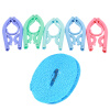 Jie Sheng складные пластиковые многофункциональные сушильные стойки портативные многофункциональные 5M ветрозащитные нескользящей веревкой для переноски одежды для переносных поездок одежда для одежды + стойка для одежды (цветная случайная)