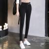 KuoyiHouse 0028 2017 новая высокая талия девять штаны брюки весна черный брюки брюки брюки брюки брюки тугой татуировка маленькие штаны штаны черный XXL