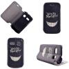 Улыбаясь дизайн зубов PU кожа флип крышку кошелек карты держатель чехол для Alcatel One Touch Pop C3 чехол флип для alcatel pop s7 7045y белый armorjacket