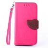 Розовый Дизайн Кожа PU откидная крышка бумажника карты держатель чехол для Samsung Galaxy Core 2/G3559/G355H зеленый одуванчик дизайн кожа pu откидная крышка бумажника карты держатель чехол для samsung galaxy core prime g360