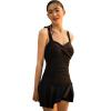 Ezi1335 Купальный костюм в виде платья для женщин с небольших грудей