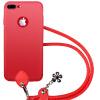 Zi яблочный пирог с вытяжным шнуром iphone7plus 7plus телефон оболочки мобильный телефон силиконовой оболочки 7P все включено мягкой матовой крышкой может Холтер 5,5 дюйма красный градиент гарнитура a4tech hs 7p