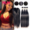 4 x 4 8A grade Brazilian Virgin human Hair Top Lace closure With 3 pcs unprocessed Silky Straight black Hair Bundles weft 7a none full lace human hair wigs short straight glueless unprocessed virgin brazilian lace front wig black women