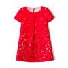 Fuluo чо Flordeer французская детская одежда для девочек бабочка печати платье F6026 Red 140 ai fuluo iflow