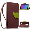 Коричневый Дизайн Кожа PU откидная крышка бумажника карты держатель чехол для LG Leon C40 чехол для сотового телефона honor 5x smart cover grey