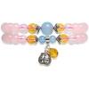 Камни (istone) состояние полный многослойный браслет розовый кварц КВАРЦ камни istone двенадцать созвездий овна кварц розовый кварц браслет