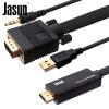 Jebshun (JASUN) VGA к кабелю HDMI 2 м Жидкокристаллический телевизор строчный дисплей для ноутбуков / настольные / TV проекторы контакт поддержка 1080P JS-086 jebshun jasun apple молнии в кабель hdmi 2 м iphone6  6s 7 plus ipad к hdmi кабеля hdtv мониторов подключите js 090