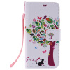 Дизайн дерева и кошки Кожа PU Кожаный флип-обложка Чехол для карты LG K10 дизайн дерева и кошки кожа pu кожаный флип обложка чехол для карты lg g5