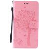 Pink Tree Design PU кожа флип крышку кошелек карты держатель чехол для LG V10