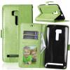 Зеленая классическая флип-обложка с функцией подставки и слотом для кредитных карт для Asus ZenFone Zoom ZX551ML смартфон asus zenfone zoom zx551ml 128gb