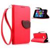 Красный Дизайн Кожа PU откидная крышка бумажника карты держатель чехол для Nokia Lumia 535