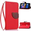 Красный Дизайн Кожа PU откидная крышка бумажника карты держатель чехол для Nokia Lumia 925