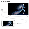 Rui Ming RA360WH Apple iPhone7 / 6S / Плюс / iPad к кабелю адаптера hdmi Подключение к телевизору Apple / монитор / проекционная линия преобразования алюминиевого сплава подключите и воспроизводите 2 м jebshun jasun apple молнии в кабель hdmi 2 м iphone6  6s 7 plus ipad к hdmi кабеля hdtv мониторов подключите js 090