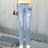 LAXJOY женские джинсы с дырками